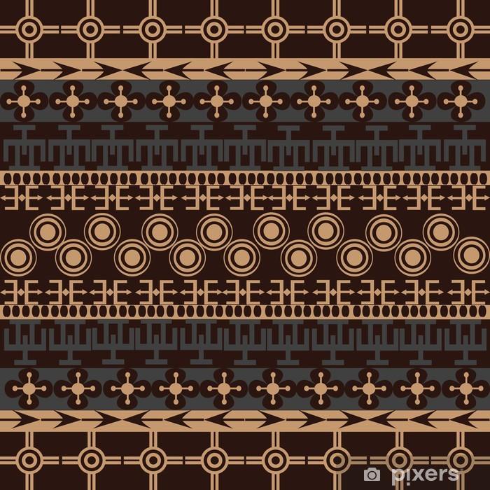 Poster Texture avec des ornements traditionnels - toile-de-jute