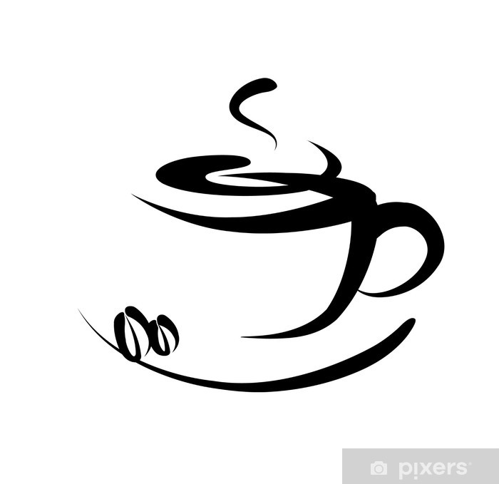 Naklejka Pixerstick Kawa podpisania - Naklejki na ścianę