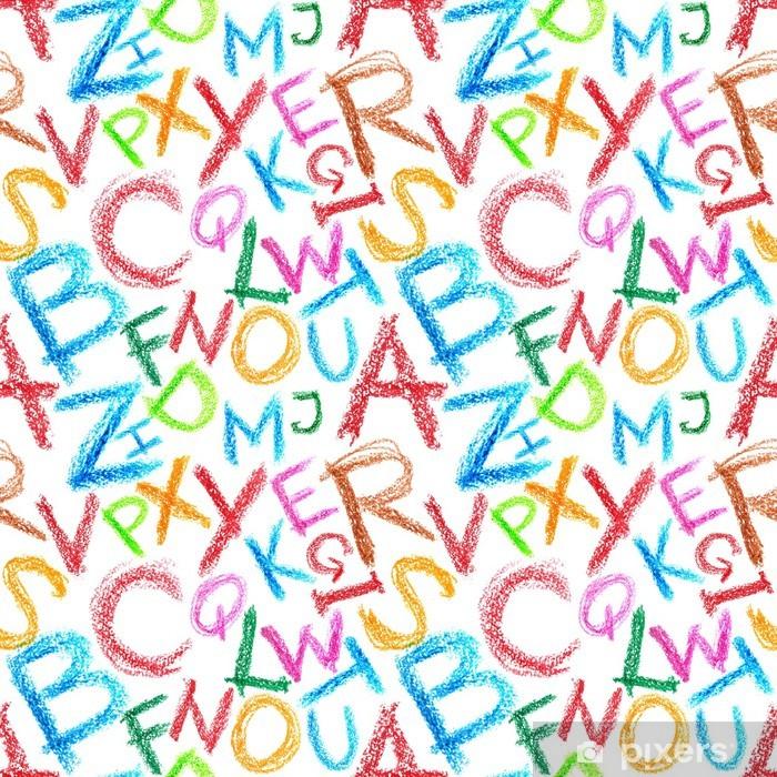 Sticker Pixerstick Crayon alphabet seamless - Thèmes