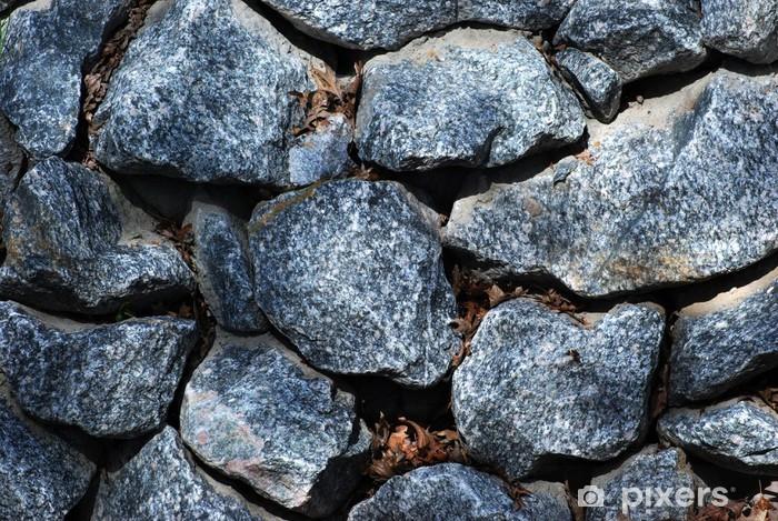 Fotomural Estándar Antecedentes piedras de granito en bruto - Texturas