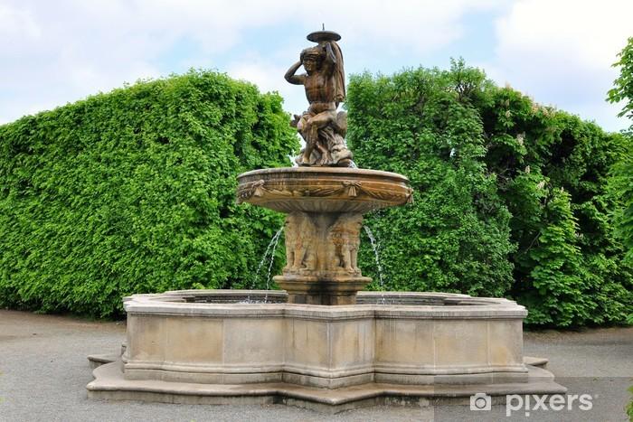 Bra Fototapet Lejon fontän i Flower trädgård i Kromeriz, Tjeckien JF-82
