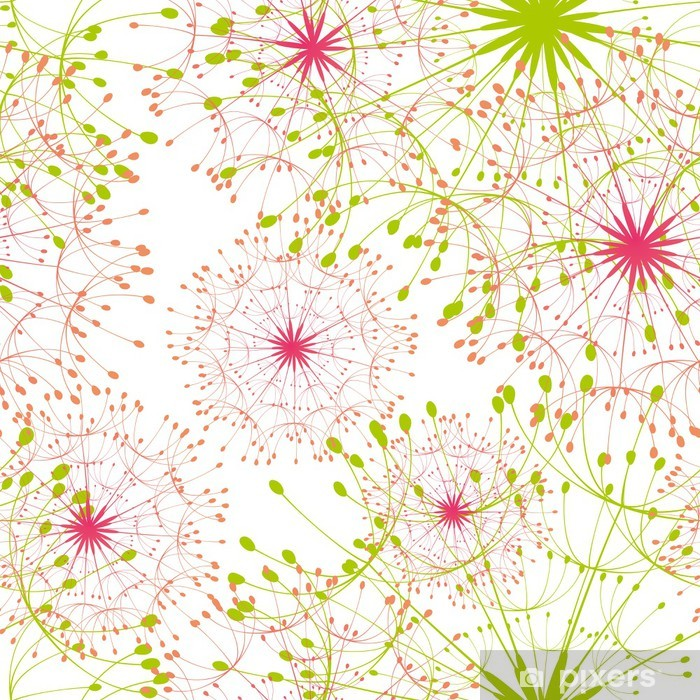 Abstract dandelion seamless pattern background Vinyl Wall Mural - Styles