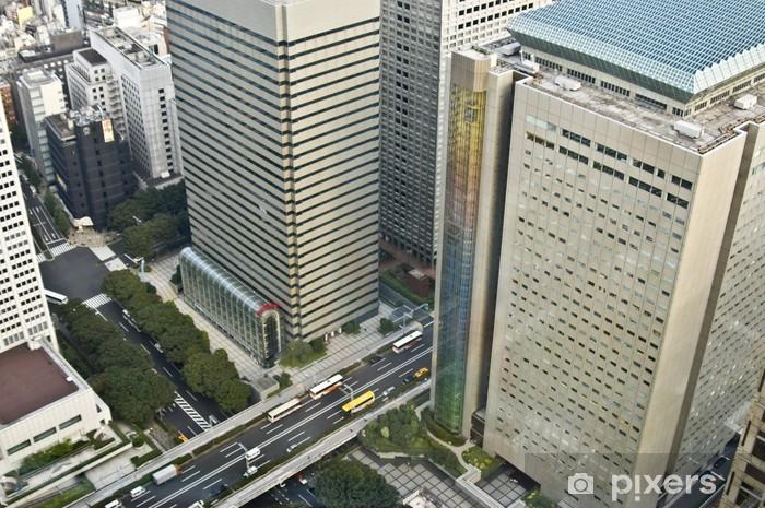 Fototapeta winylowa Drapacze chmur i podwyższone drogi w Tokio 01 - Miasta azjatyckie