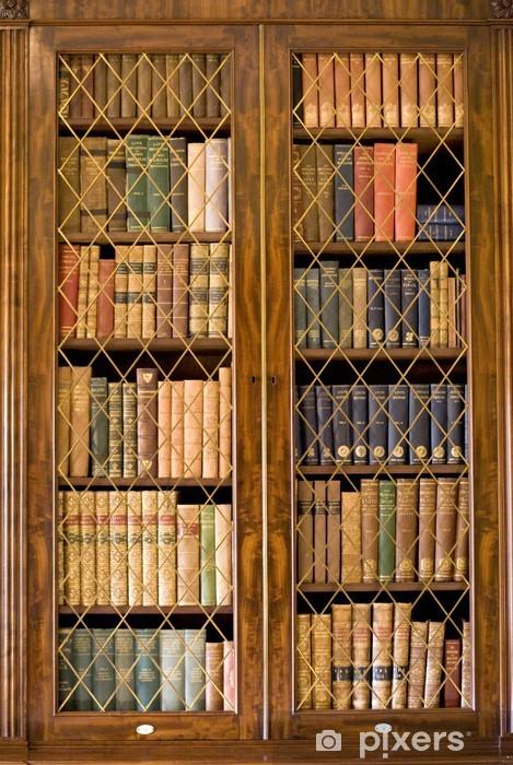 Vinilo Pixerstick Estante para libros - Biblioteca