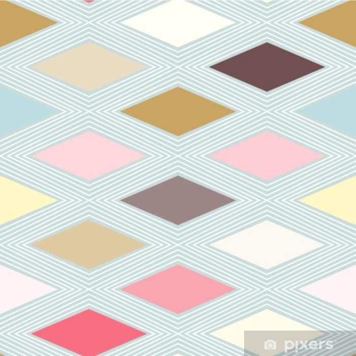 Papier peint vinyle Losange diamant carreaux modèle sans couture, couleurs pastel vecteur fond géométrique. lignes et éléments abstraits. - Ressources graphiques