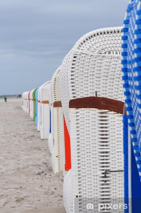 Sticker Pixerstick Chaises de plage - Vacances