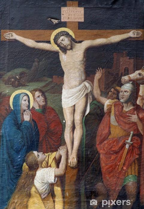 Papier peint vinyle Jésus meurt sur la croix - Thèmes