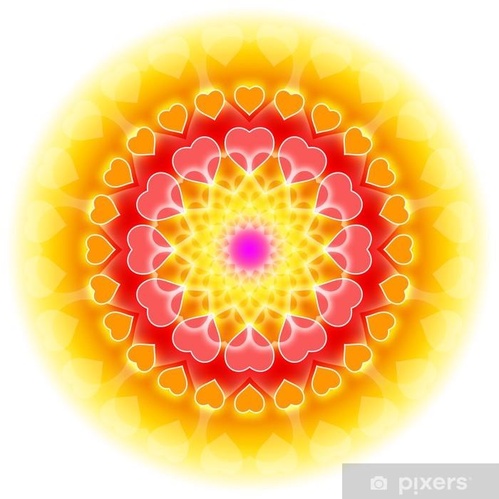 Naklejka Pixerstick Miłość Mandala 01 - Kwitnienie Serca - Religie