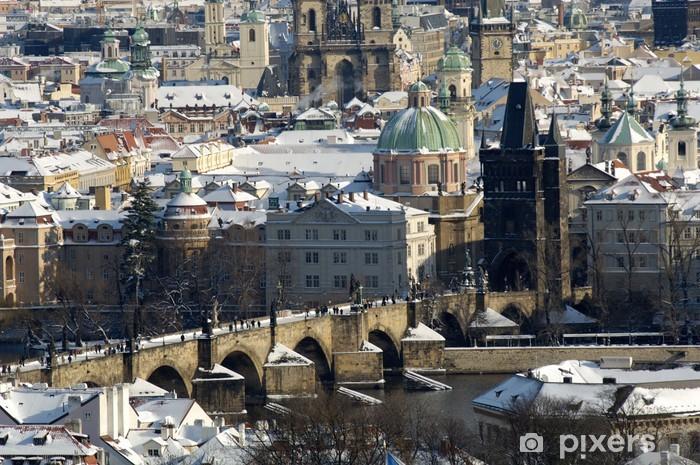 Papier peint vinyle Pont Charles, Prague, République tchèque - Europe