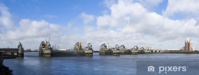 Nálepka Pixerstick Temže bariéra protipovodňové zábrany Londýn - Evropská města