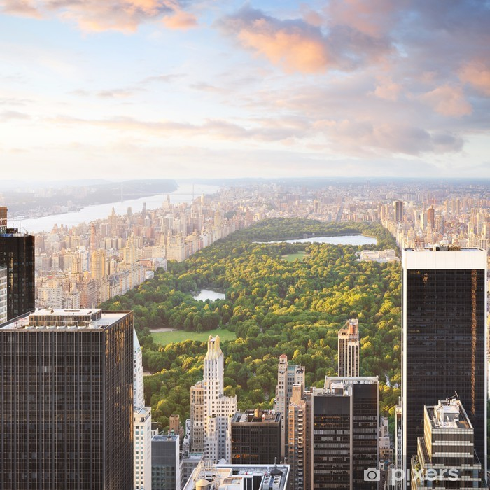 Fototapeta winylowa New York Manhattan at sunset - central park view - Tematy