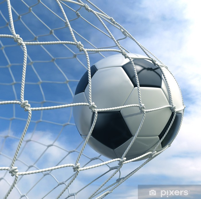 Soccer ball in the net Poster - Destinations