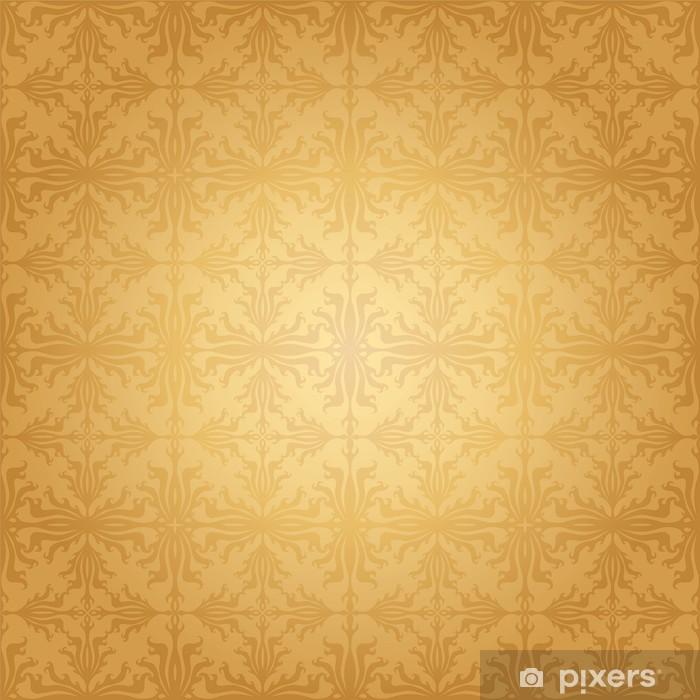 Naklejka Pixerstick Powtarzalny adamaszku tapety - Tła