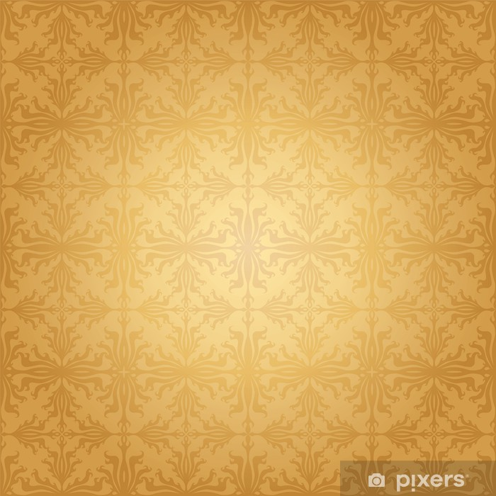 Sticker Pixerstick Seamless Damask Wallpaper - Arrière plans