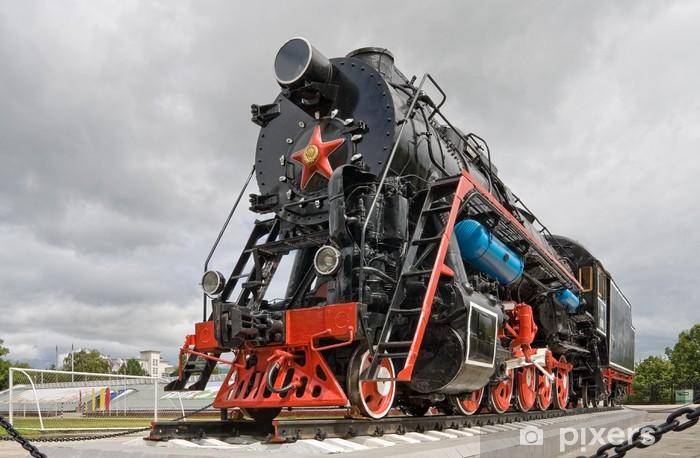 Papier peint vinyle Ancienne locomotive à vapeur - Thèmes