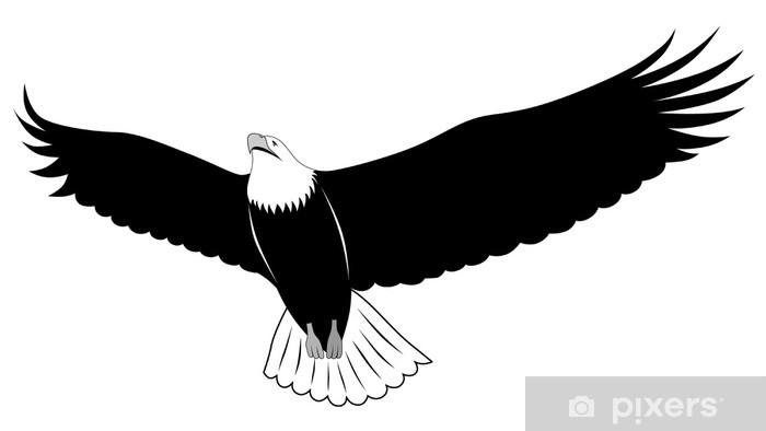 Wall Mural Vinyl Eagle Tattoo