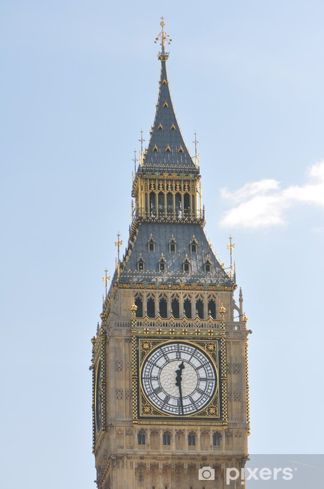 Big Ben ornate tower and clock face in London Uk Vinyl Wall Mural - Holidays