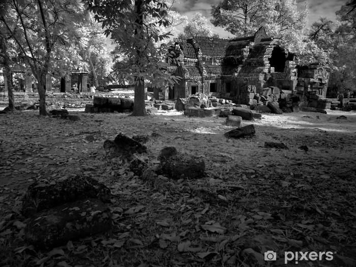 Naklejka Pixerstick Angkor Wat - rozkosz Khmerów architektury i sztuki nb.12 - Azja