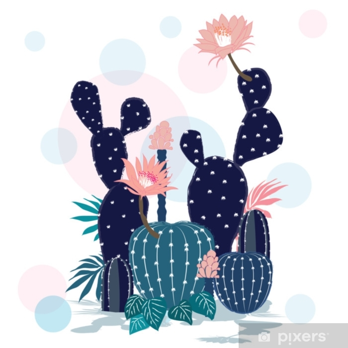 Beautiful Cactus collection. Sketchy style illustration. Pixerstick Sticker - Culture and Religion
