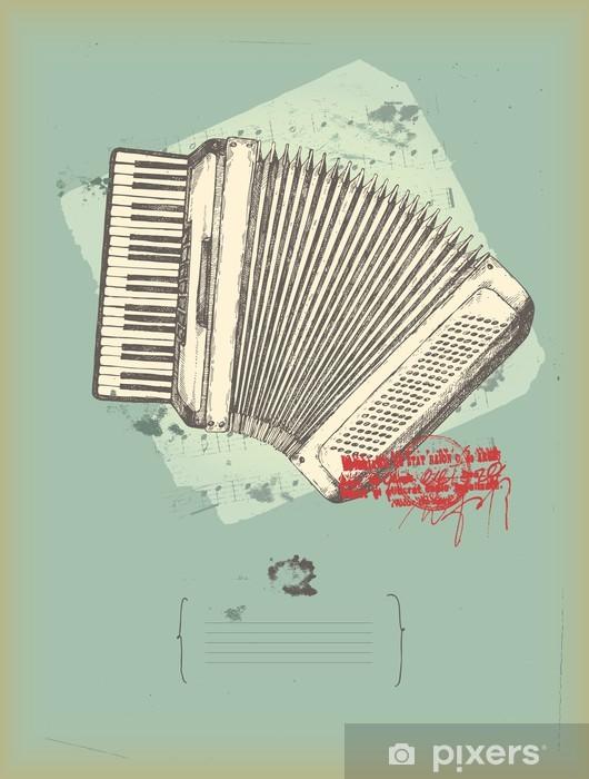 Papier Peint Ancien Accordéon Dessin Musique Thème