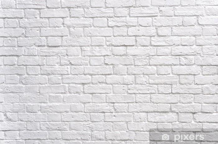 carta da parati un muro di mattoni bianchi pixers