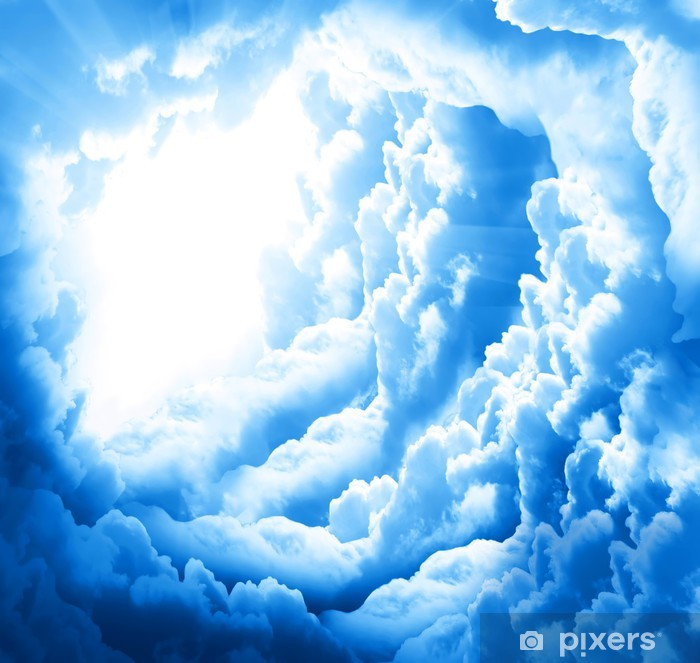 Sticker Pixerstick Beaux nuages - Thèmes