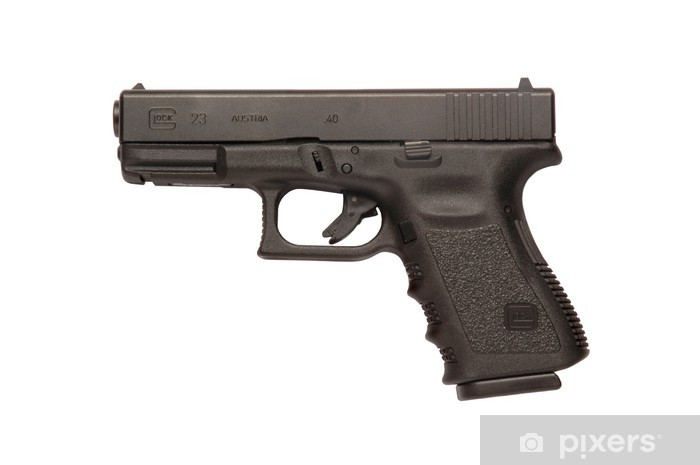 Glock 9mm handgun Pixerstick Sticker - Violence and Crime