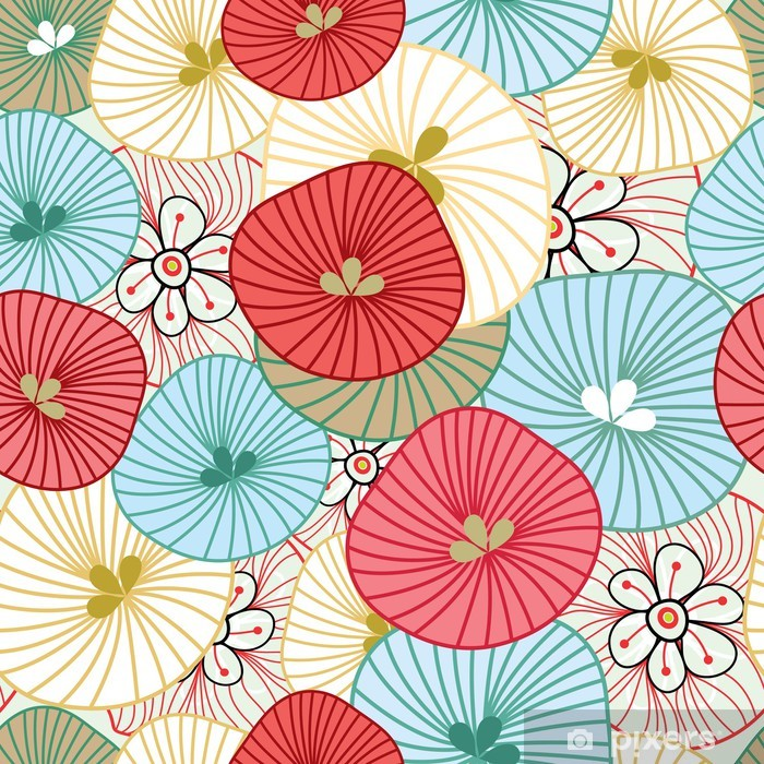Sticker Pixerstick Flower background - Thèmes