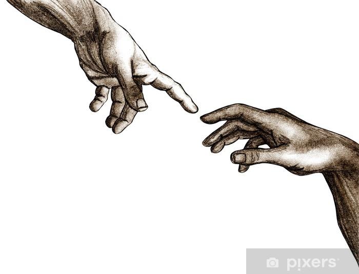 Naklejka Pixerstick Ręce Boga i Adama - Tematy