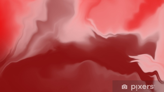 Papier peint vinyle Texture abstraite marbre rouge et orange, gros plan de la texture aquarelle, couleur de fond - Ressources graphiques