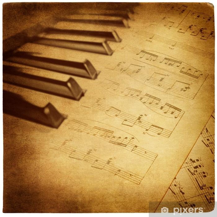 Papier peint vinyle Rétro fond musical - Styles
