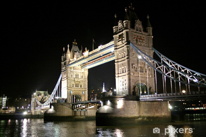 tower bridge at night Vinyl Wall Mural - Themes
