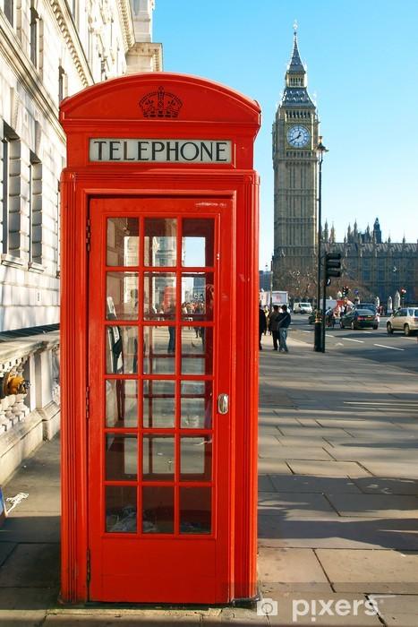 Vinilo Pixerstick Una cabina de teléfono rojo - Temas