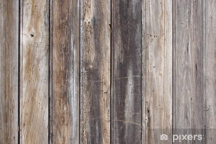Sticker Pixerstick Planches en bois vieilles - Thèmes