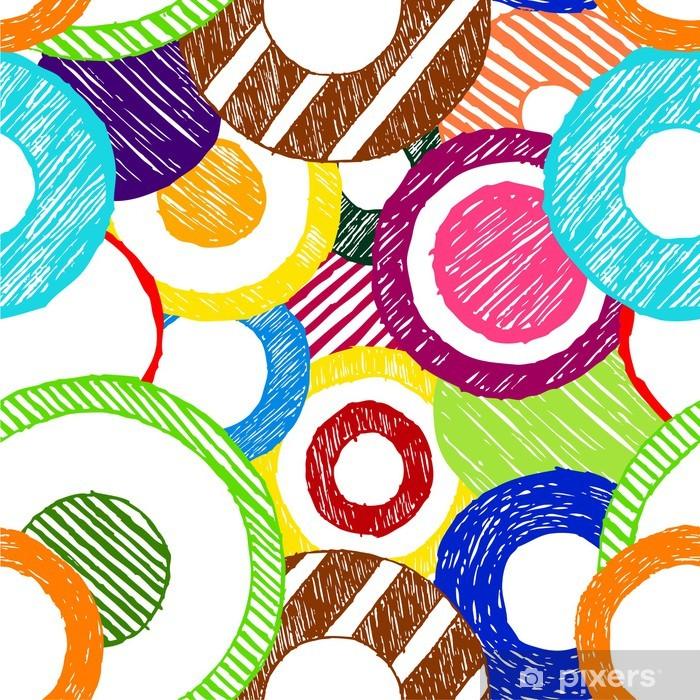 Sticker Pixerstick Vecteur grunge sommaire cercle de fond sans soudure - Arrière plans