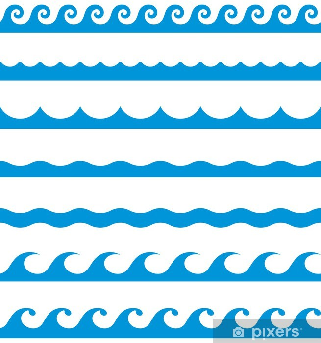 Vinilo Pixerstick Patrones de costura de onda (Vector) • Pixers ...