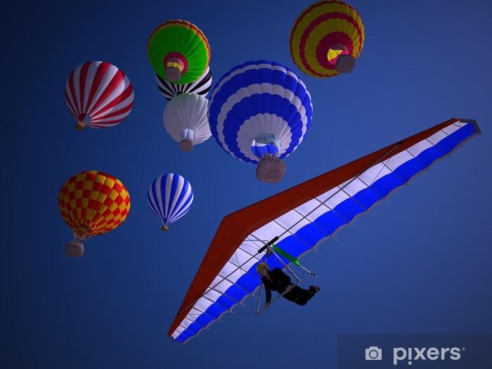 Naklejka Pixerstick Balony na zachodzie słońca - Transport powietrzny