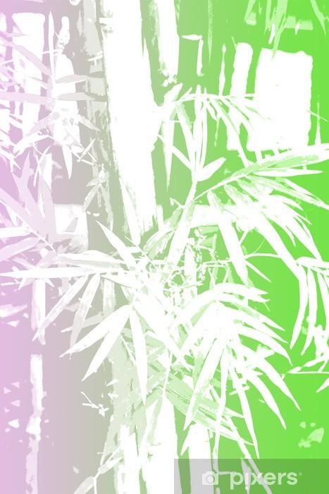 Naklejka Pixerstick Bamboo Azji Abstract Background Wallpaper - Criteo