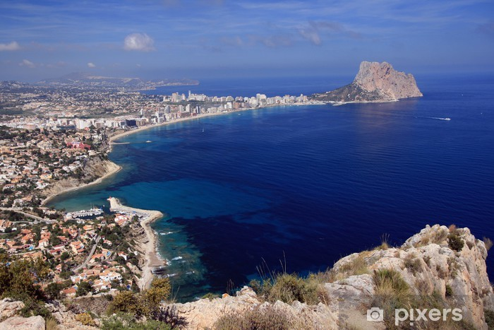 Fototapeta winylowa Przegląd Penon de Ifach w Calpe - Alicante - Wakacje