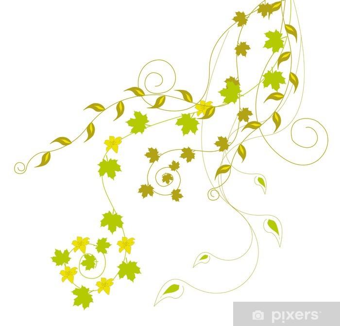 Sticker Pixerstick Les feuilles vertes et les vignes - Plantes