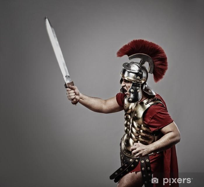 Fototapeta winylowa Legionista żołnierz gotowa na wojnę. - Mężczyźni