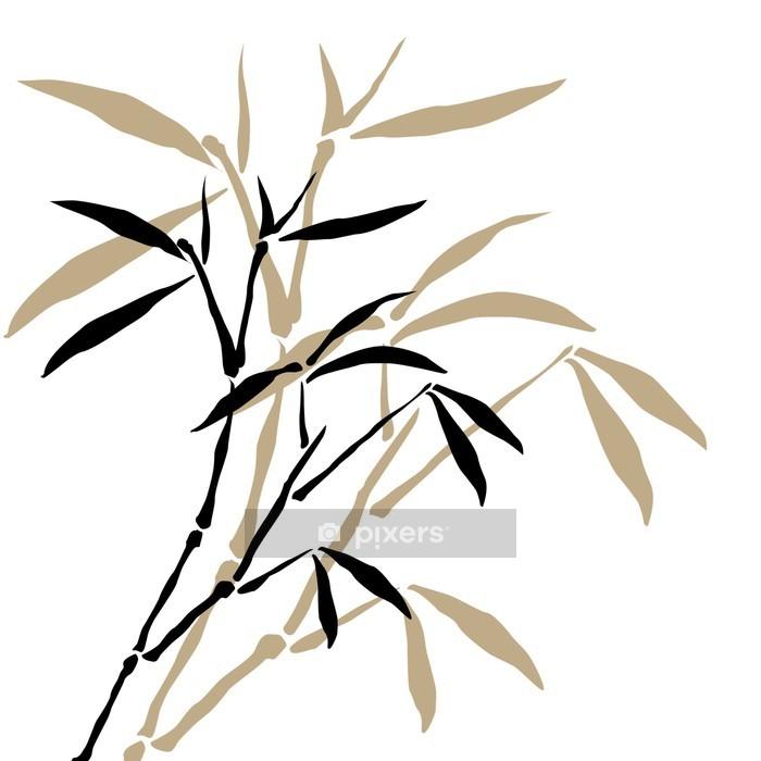Naklejka na ścianę Bambus oddziałów - Style