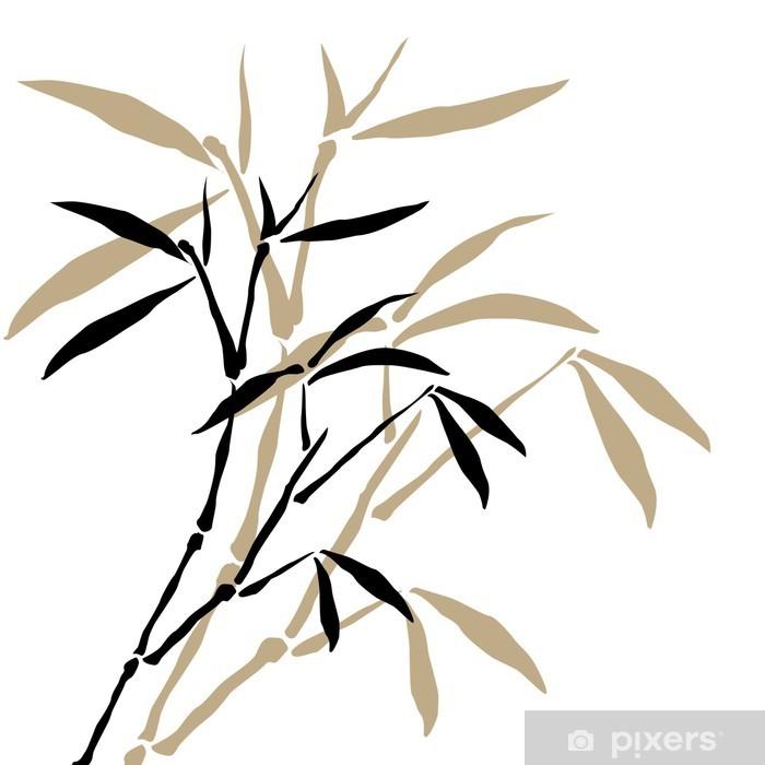Nálepka Pixerstick Bambusové větve - Styly