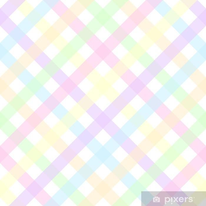 Pastel Plaid Pixerstick Sticker - Themes
