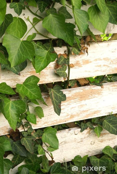 Pixerstick Aufkleber Bewachsener Zaun - Haus und Garten