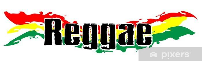 Fototapeta winylowa Rasta Symbol - Reggae Flag 01 - Znaki i symbole