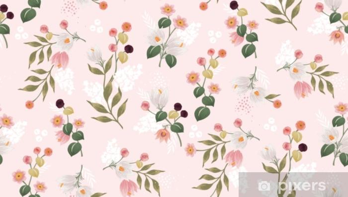 Vinilo Vector El Ejemplo De Un Estampado De Flores Inconsútil En La Primavera Para La Boda El Aniversario El Cumpleaños Y El Partido Diseño Para