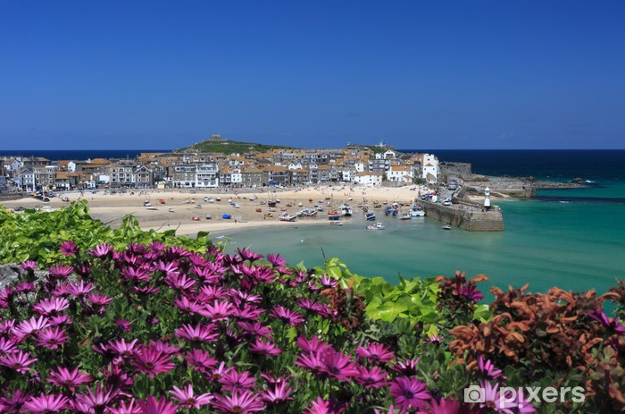 St Ives from the Malakoff Vinyl Wall Mural - Europe