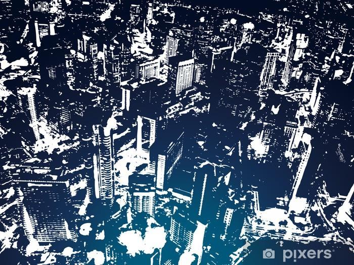 şehir Arka Plan çıkartması Pixerstick Pixers Haydi Dünyanızı