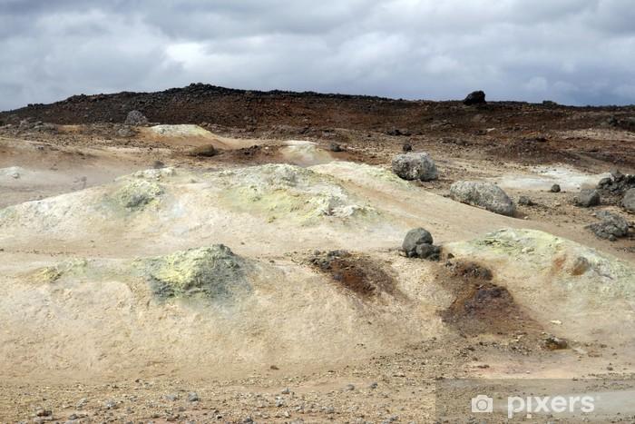 Carta da Parati in Vinile Zona geotermica nella regione di Krafla in Islanda - Europa